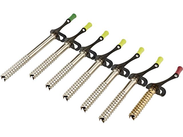 AustriAlpin Ice Screw Set Incluye SZ07, 1x ES12FX, 5x ES17FX, 1x ES21FX